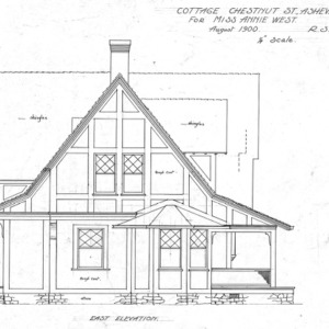 Cottage - Chestnut St. - For Miss Annie West--East Elevation
