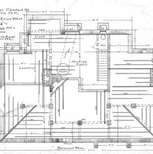 Cottage - Chestnut St. - For Miss Annie West--Basement Plan