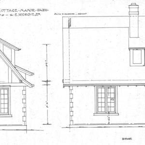 """Cottage - Manor Park for E.W. Grove - """"Chipmunk Cottage""""--Side and Rear"""