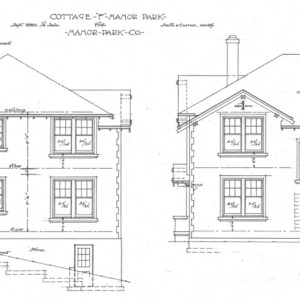 """Cottage """"F"""" Manor Park - for Manor Park Co.--Rear and Side"""