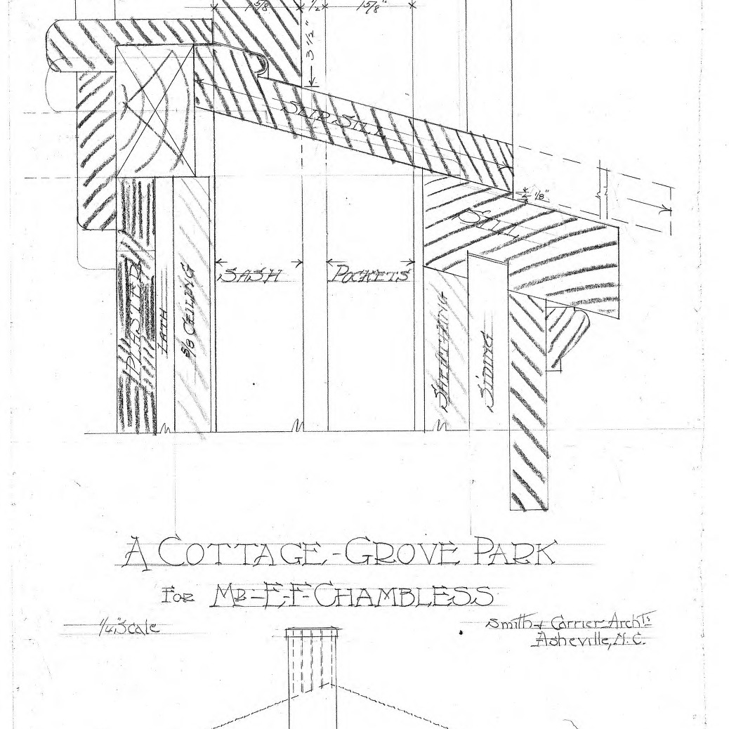 A Cottage Grove Park - for Mr. E. F. Chambless--Jamb Detail-Rear