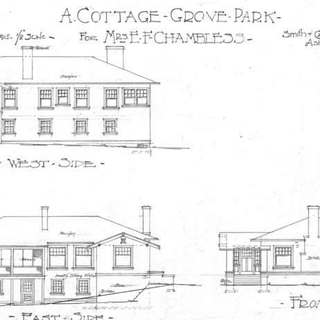 A Cottage Grove Park - for Mr. E. F. Chambless--West-East-Front