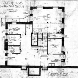 A Cottage for Wm. J. Bryan - Edwin Place--East Side Section