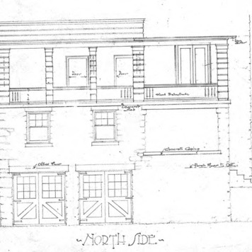 A Cottage for Wm. J. Bryan - Edwin Place--Gable Cornice and Section through Outside Walls