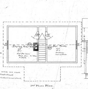Log Cabin for Dr. C. P. Ambler Rattle Snake Lodge--1st and 2nd Floor- Front Elevation