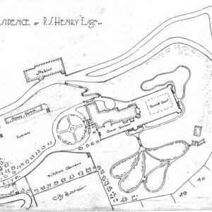 Zealandia, Residence of P. S. Henry --Site Plan