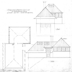 Residence of P.S. Henry--End- Plan- and Side