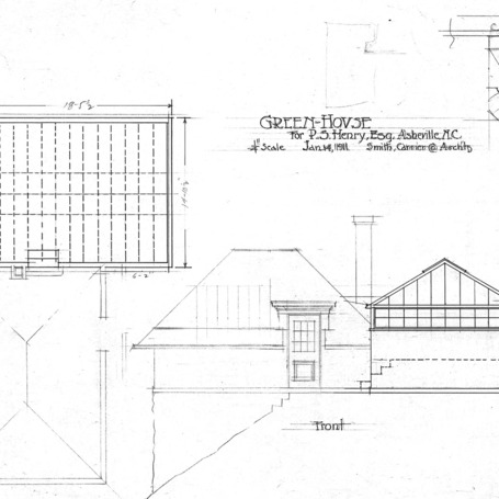 Residence of P.S. Henry--Plan and Front