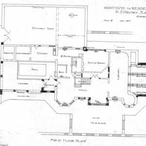 Zealandia Estate - P. S. Henry--First Floor Plan