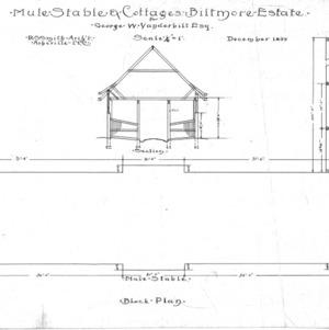 Mule Stable & Cottages--Biltmore Estate--Block Plan