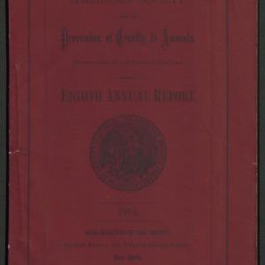 ASPCA Eighth Annual Report, 1873