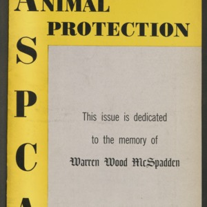 ASPCA Animal Protection, Spring 1959