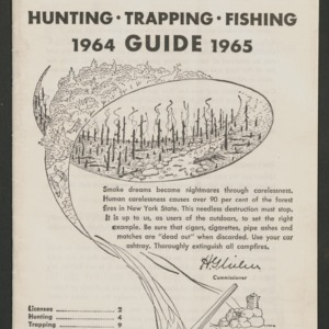 Hunting Trapping Fishing Guide, 1964-1965