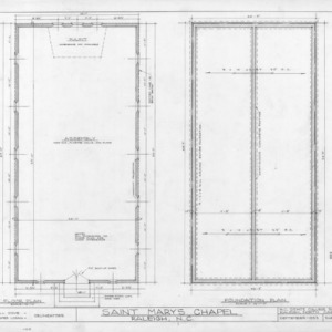 Floor plan, St. Mary's Chapel, Raleigh, North Carolina