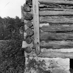 Exterior detail, Tobacco Barn, Franklin County, North Carolina