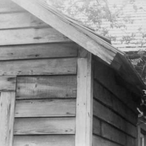 Exterior detail, Shaw House, Southern Pines, North Carolina