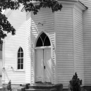 Front doors, Hollands Methodist Church, Wake County, North Carolina