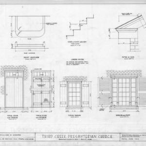 Details, Third Creek Presbyterian Church, Rowan County, North Carolina