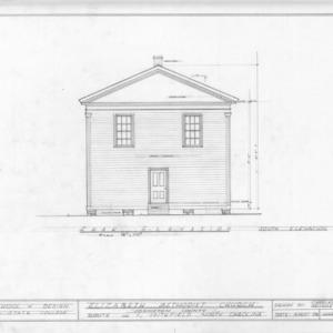South elevation, Elizabeth Methodist Church, Johnston County, North Carolina