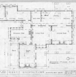 First floor plan, Honnet House, Wilmington, North Carolina