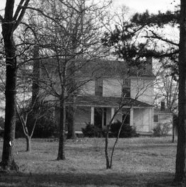 Front view, Colonel Benjamin Franklin Brown House, Dixie, North Carolina