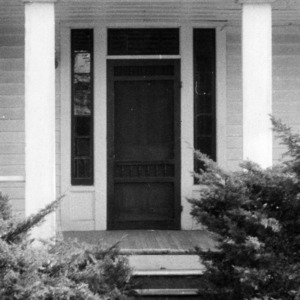 Exterior detail, Colonel Benjamin Franklin Brown House, Dixie, North Carolina