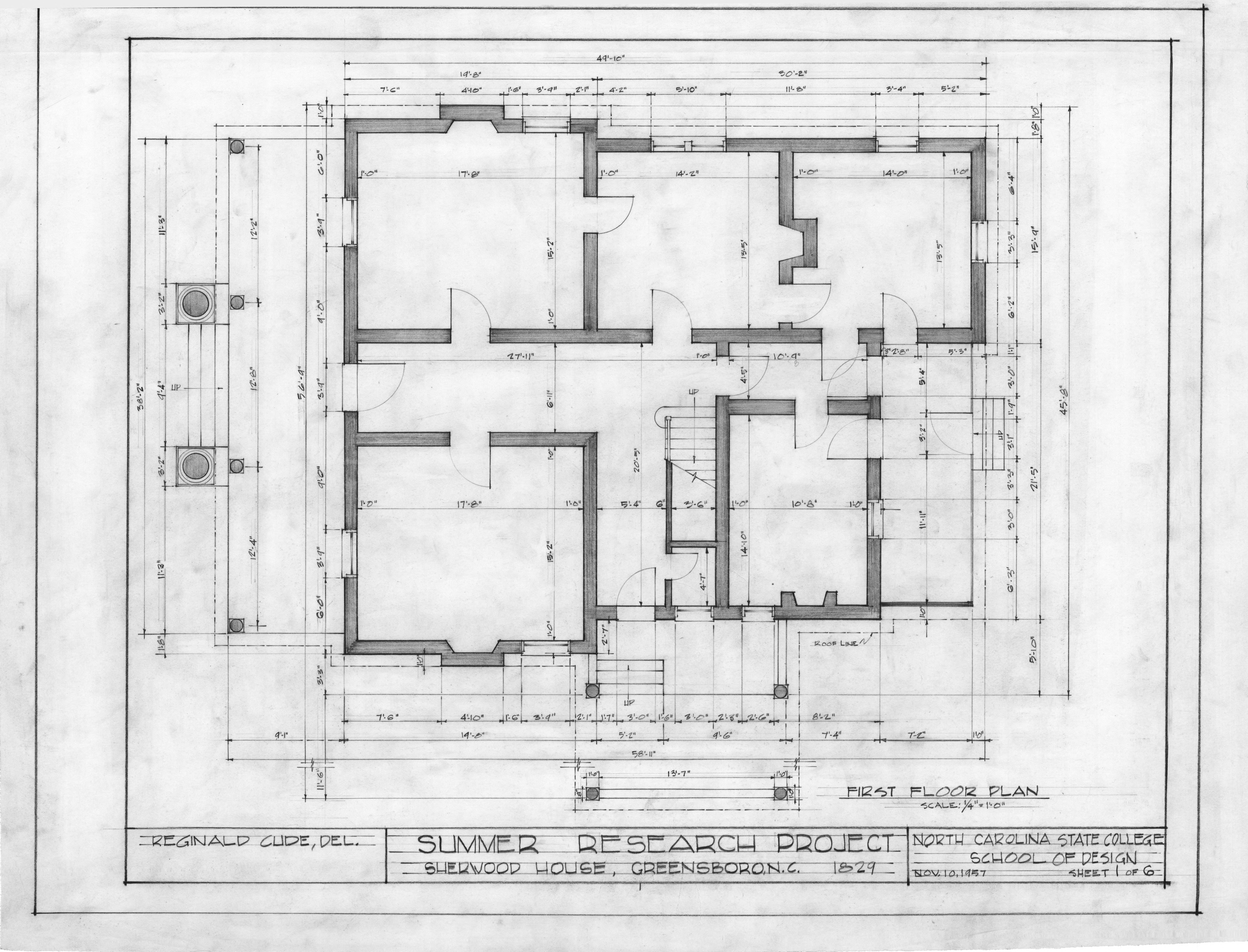 First Floor Plan Sherwood House Greensboro North