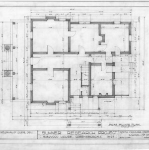 First floor plan, Sherwood House, Greensboro, North Carolina