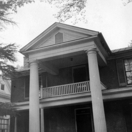 Front view with porch, Sherwood House, Greensboro, North Carolina