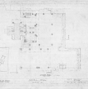 Basement floor plan, Yates Mill, Wake County, North Carolina