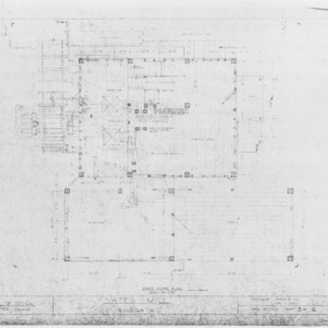 First floor plan, Yates Mill, Wake County, North Carolina