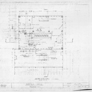 Second floor plan, Yates Mill, Wake County, North Carolina