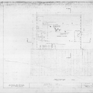 Third floor plan, Yates Mill, Wake County, North Carolina