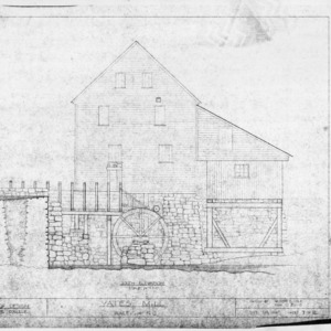 South elevation, Yates Mill, Wake County, North Carolina