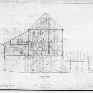 Cross section, Yates Mill, Wake County, North Carolina