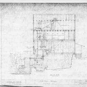 Longitudinal section, Yates Mill, Wake County, North Carolina