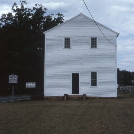 Front view, Old St. Paul's Lutheran Church, Catawba County, North Carolina