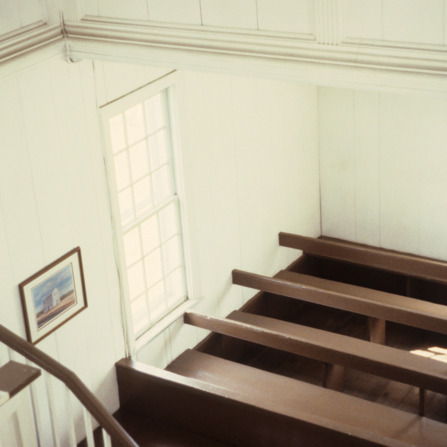 Interior view, Old St. Paul's Lutheran Church, Catawba County, North Carolina