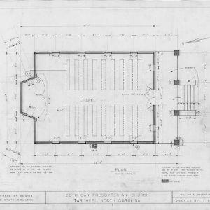 Floor plan, Beth Car Chapel, Bladen County, North Carolina