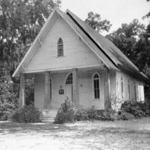 Front view, Beth Car Chapel, Bladen County, North Carolina