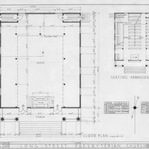 Floor plans and schedules, Longstreet Presbyterian Church, Fort Bragg, North Carolina