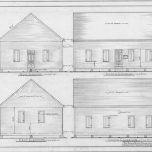 Elevations, Brown Marsh Presbyterian Church, Bladen County, North Carolina