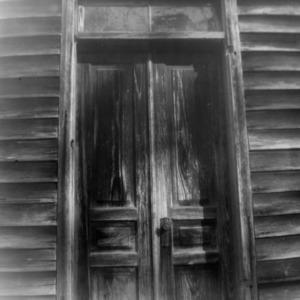 Door detail, Brown Marsh Presbyterian Church, Bladen County, North Carolina
