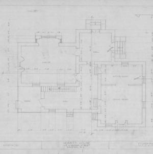 First floor plan, Heartt House, Raleigh, North Carolina