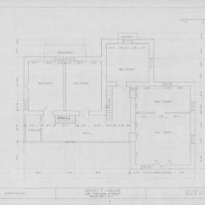 Second floor plan, Heartt House, Raleigh, North Carolina