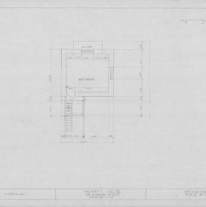 Third floor plan, Heartt House, Raleigh, North Carolina