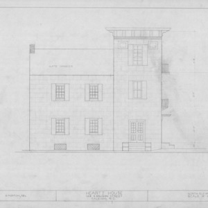 North elevation, Heartt House, Raleigh, North Carolina