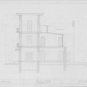 Section, Heartt House, Raleigh, North Carolina