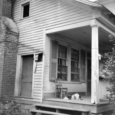 Side view with porch, Old Corpening House, Caldwell County, North Carolina