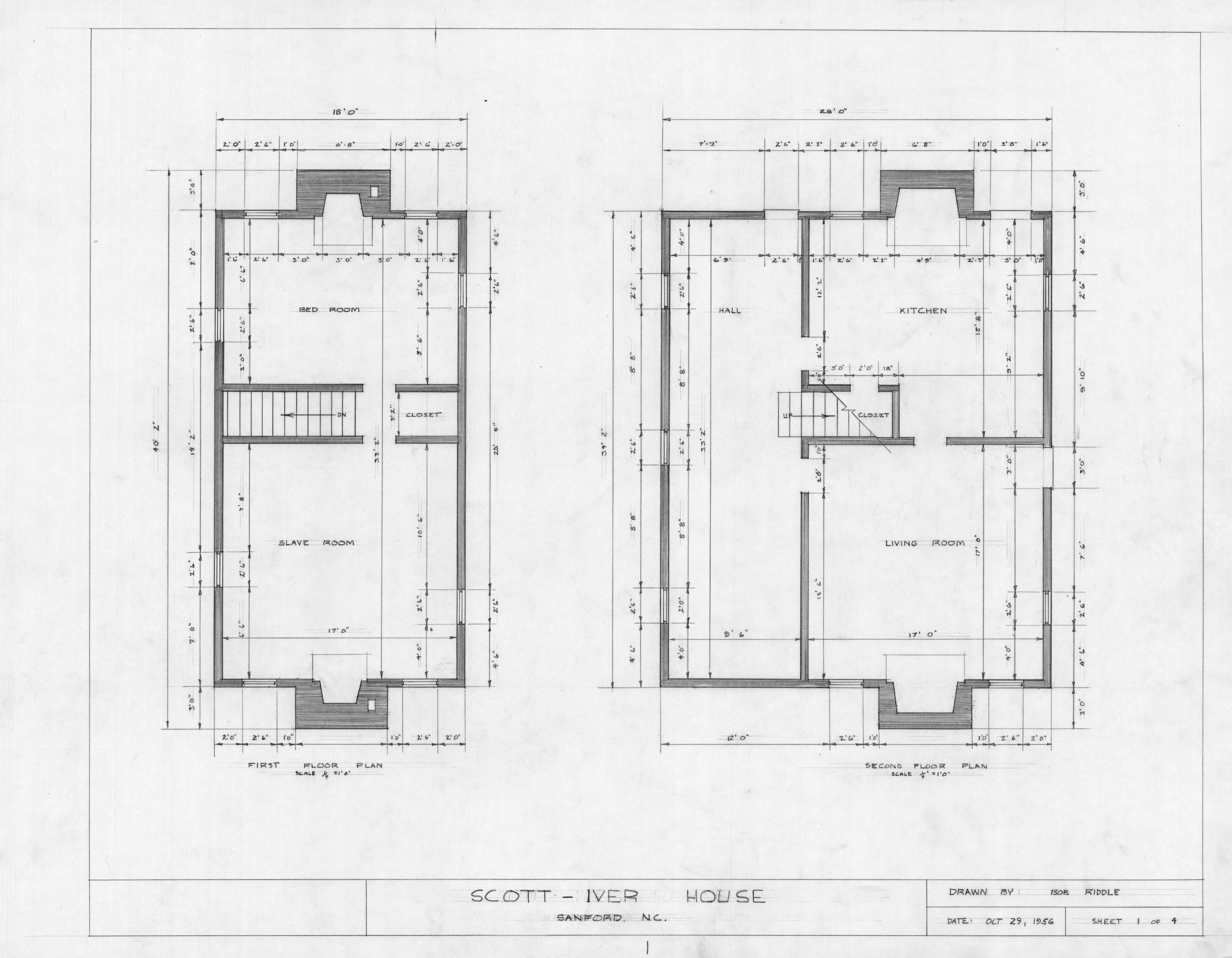 Floor Plans Evandor Mciver House Sanford North Carolina